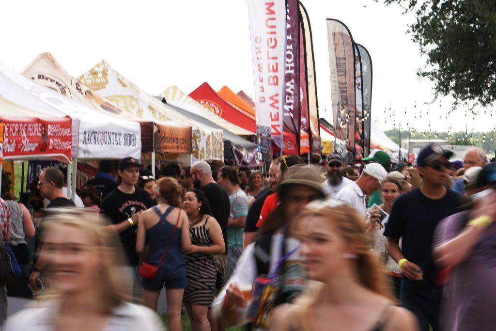 Thousands came out to the Untapped Music & Beer Festival at Panther Island in Fort Worth, Texas on Saturday, June 11, 2016. Brewers and bands from all over the country participated. (Lawrence Jenkins/Special Contributor)