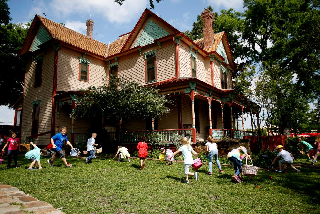 The Victorian Eggstravaganza and Spring Festival at Heritage Farmstead Museum in Plano features egg-hunting, home tours, wagon rides and more.