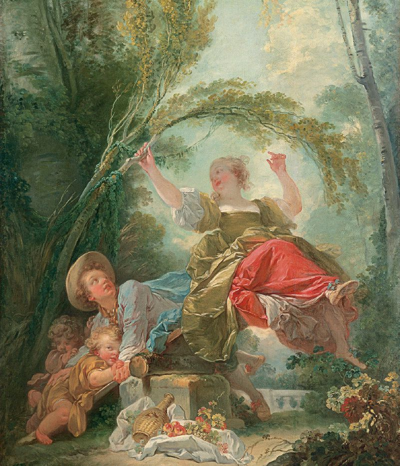 """""""Casanova: The Seduction of Europe"""" at the Kimbell Art Museum includes Jean-Honore Fragonard's The Seesaw, circa 1750 (Museo Thyssen- Bornemisza)"""