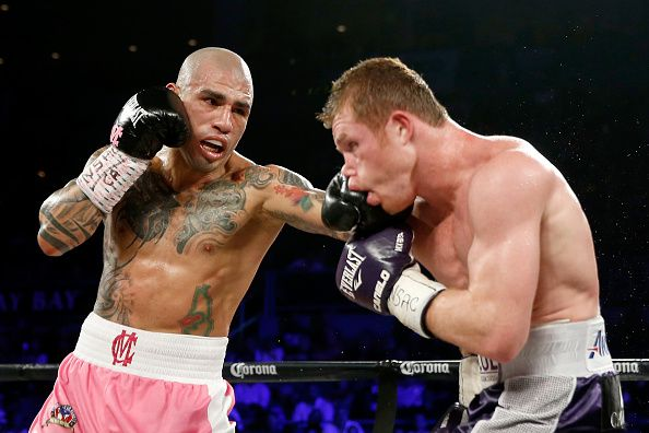 Miguel Cotto vs. Saúl Álvarez. Foto GETTY IMAGES