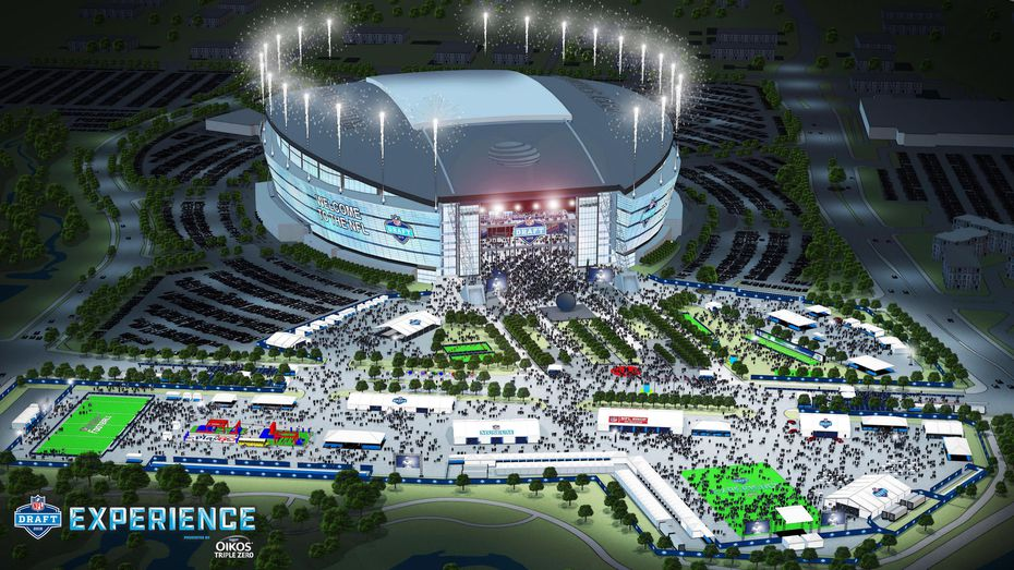Rendering of AT&T Stadium for the draft