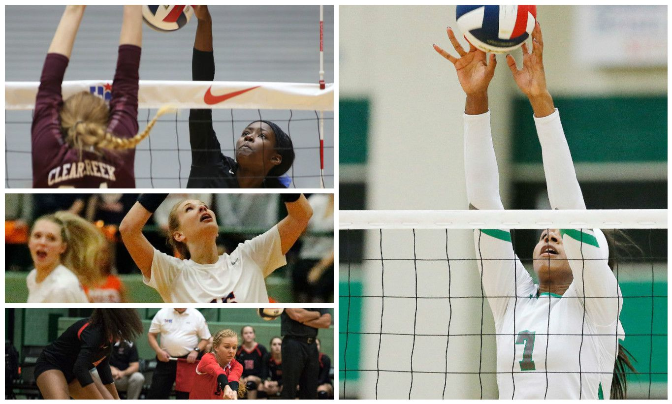 Top left: Hebron's Adanna Rollins; middle left: Frisco Wakeland's Marissa Harmon; Bottom left: Lovejoy's Lexie Smith; Right: Southlake Carroll's Asjia O'Neal