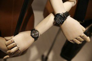 A display of watches inside the Fossil store in the Stonebriar Centre in Frisco, Texas Thursday January 21, 2016. (Andy Jacobsohn/The Dallas Morning News)