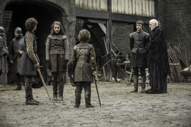Bran (Isaac Hempstead Wright) and the Three Eyed Raven (Max Von Sydow) glimpse Winterfell as it once was, with young Ned, Benjen and Lyanna Stark in their old stomping grounds.