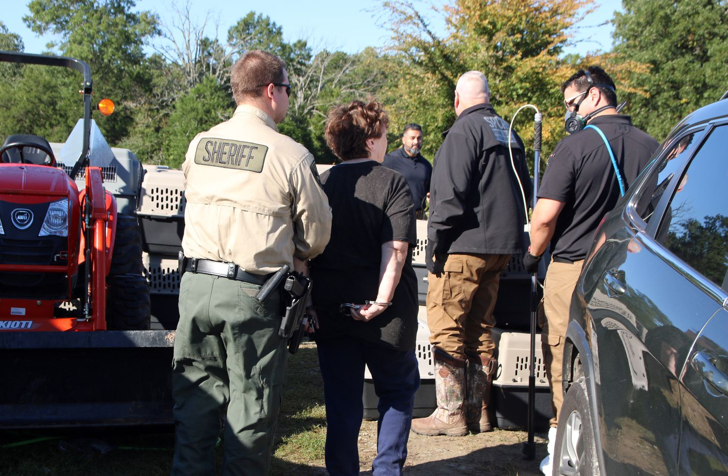 The owners of the animals were arrested and charged with child endangerment and animal cruelty, the SPCA said.