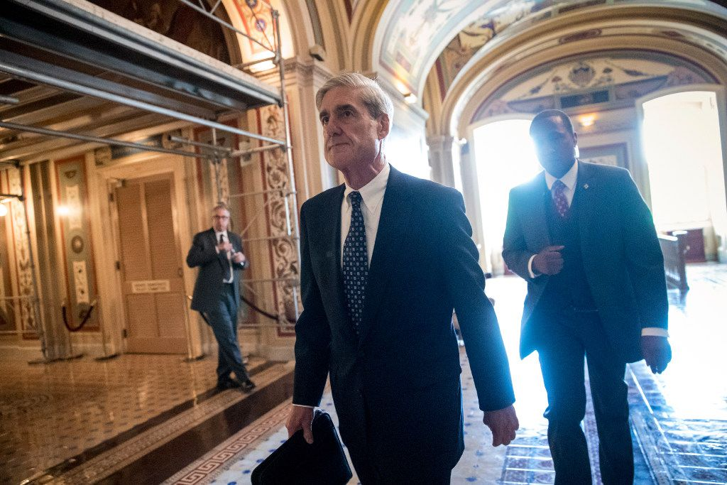 In this June 21, 2017, file photo, Special Counsel Robert Mueller departs after a closed-door meeting with members of the Senate Judiciary Committee about Russian meddling in the election at the Capitol in Washington.