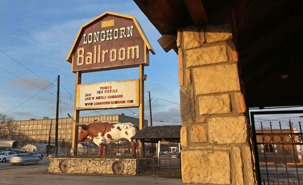 The sign outside the Longhorn Ballroom last year displays the names of the bands who were performing there on Jan. 10, 1978.