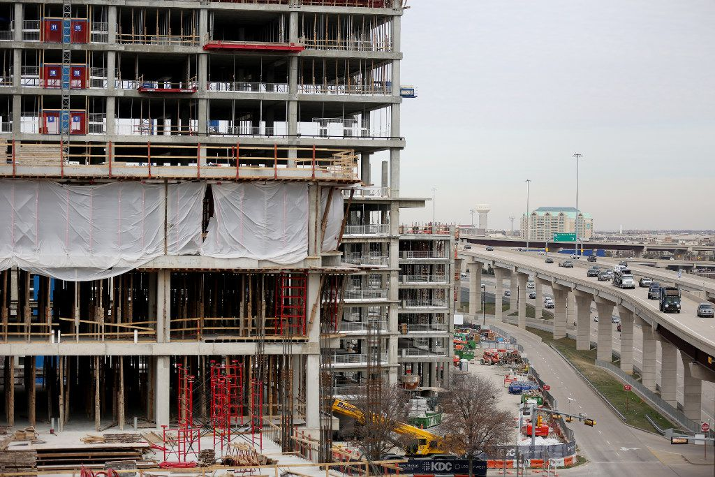 Construction continues at the Legacy West development as the Dallas North Tollway runs at the east in Plano, Texas Wednesday December 21, 2016. The finished development will include dining, stores, lodging and corporate spaces. (Andy Jacobsohn/The Dallas Morning News)