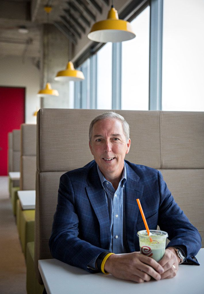 David Pace, CEO of Jamba Juice, photographed at the company's new headquarters in Frisco. (G.J. McCarthy/The Dallas Morning News)