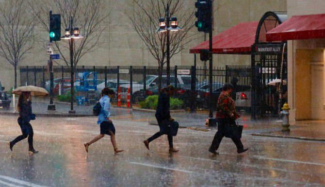 Tormentas en el Metroplex del martes 8 de marzo. /David Woo/The Dallas Morning News