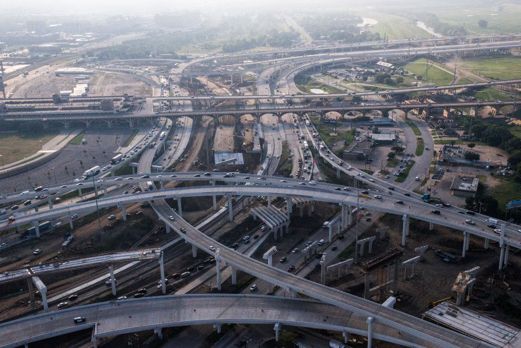 The Horseshoe project construction on Tuesday, September 13, 2016 in Dallas. Pictured are Interstates 30, 35, 45 and 75 south of downtown.
