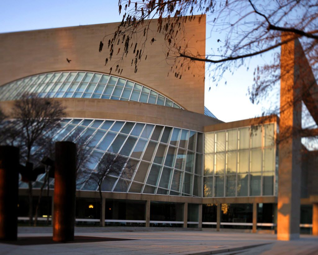 """Dallas is full of signature works from """"starchitects."""" Morton H. Meyerson Symphony Center, 1989). Pei's only concert hall remains an elegantly understated presence in the Dallas Arts District, a subtle counterpoint of angles and curves. The interior is darkly luxurious, with extensively adjustable acoustics (by Artec Consultants) among the finest anywhere. Photographed February 2012. (Lara Solt/The Dallas Morning News)"""