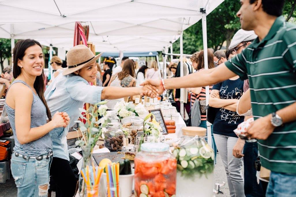 Locals connect at Urban Bazaar on Bishop, another project by Little D Markets.