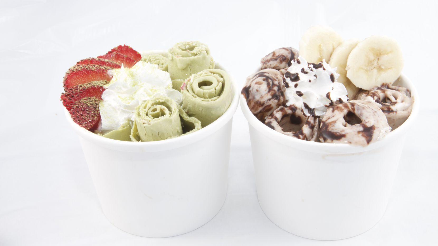 Rolled ice cream makes its debut in Dallas-Fort Worth at Orchid City Fusion Cafe.