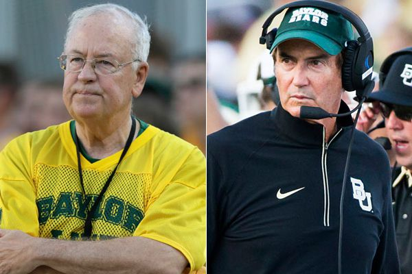 Baylor president Ken Starr (left) and football coach Art Briles.