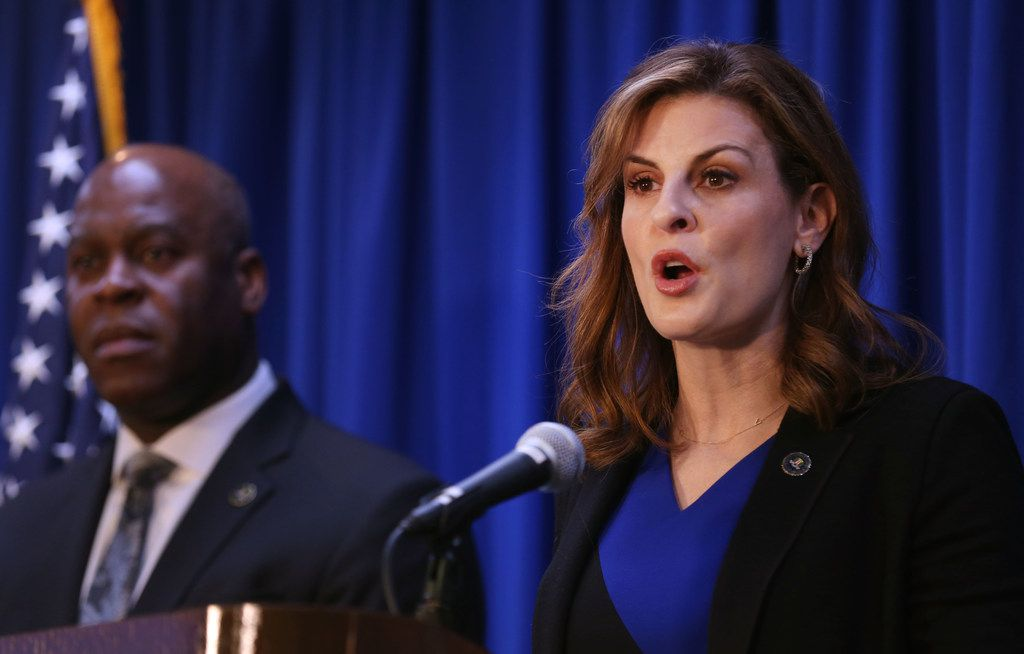 Erin Nealy Cox, U.S. attorney for the Northern District of Texas, announced the public corruption case in March.