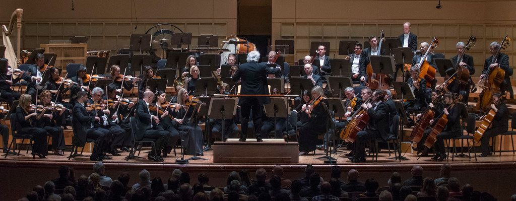 Donald Runnicles conducts the Dallas Symphony Orchestra on Jan. 10, 2019 at Meyerson Symphony Center in Dallas.