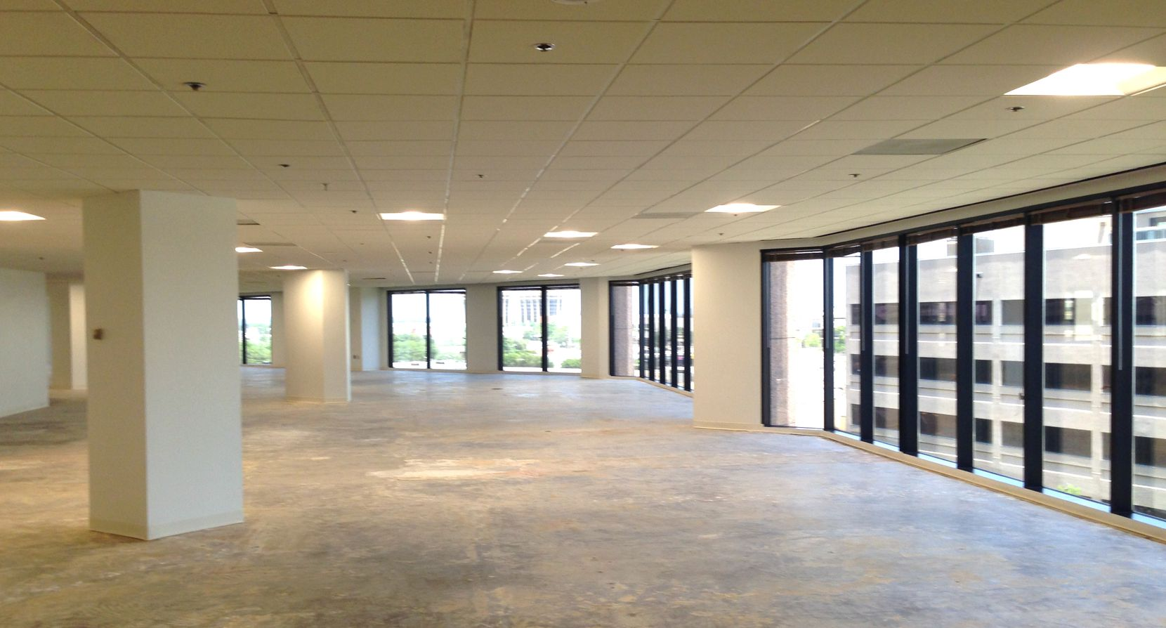 About 175,000 square feet of vacant space is in the Crossings buildings.