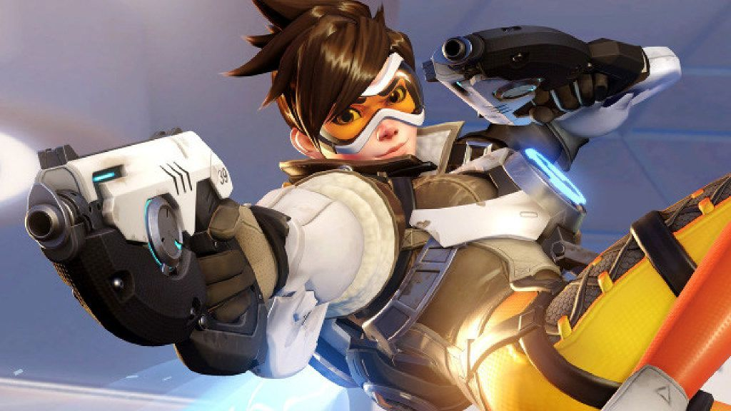"""""""Cheers, Love!"""": The British hero Tracer (real name: Lena) is effectively the mascot of the popular game """"Overwatch."""""""