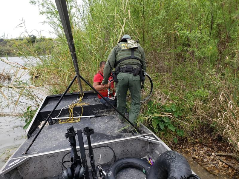 A Guatemalan man with no legs was rescued from an island in the Rio Grande last week.