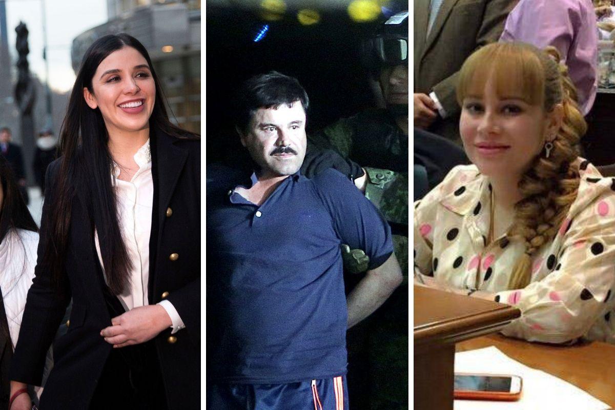 Una actriz, varias parejas y hasta presuntas colaboradoras en el cártel de Sinaloa. Ellas han tenido algún vínculo con Joaquín Guzmán Loera (centro).