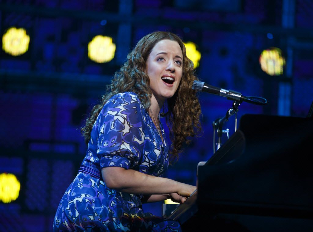 Abby Mueller in  the national tour of  Beautiful: The Carole King Musical,  in 2016. The show will return in 2019.