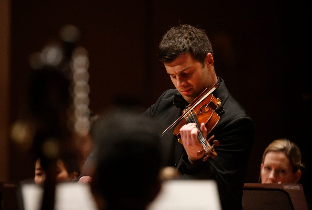 Violinist Nathan Olson will perform Vivaldi's Four Seasons with the Dallas Symphony Orchestra, as he did during this April 2017 performance.