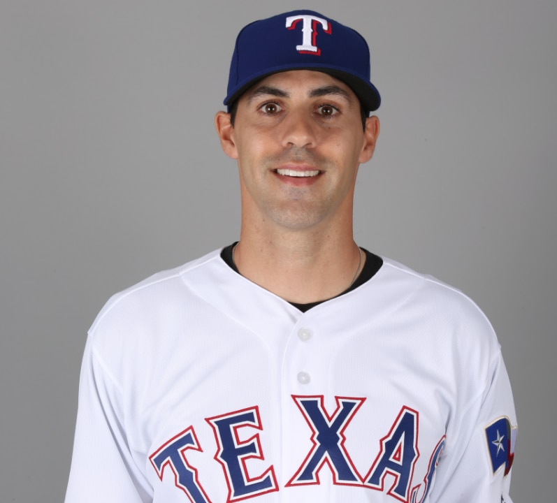 Mugshot of Rangers pitcher Brandon Mann.
