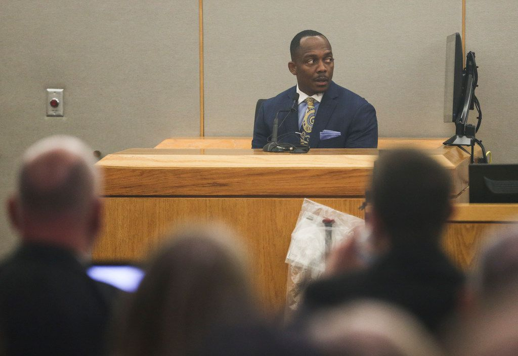 Dallas police homicide Detective Eric Barnes testified during Delgado's murder trial Thursday. Jurors saw footage from Barnes' initial two-hour interrogation of Delgado in which he noted inconsistencies in her story after Hatcher's slaying.