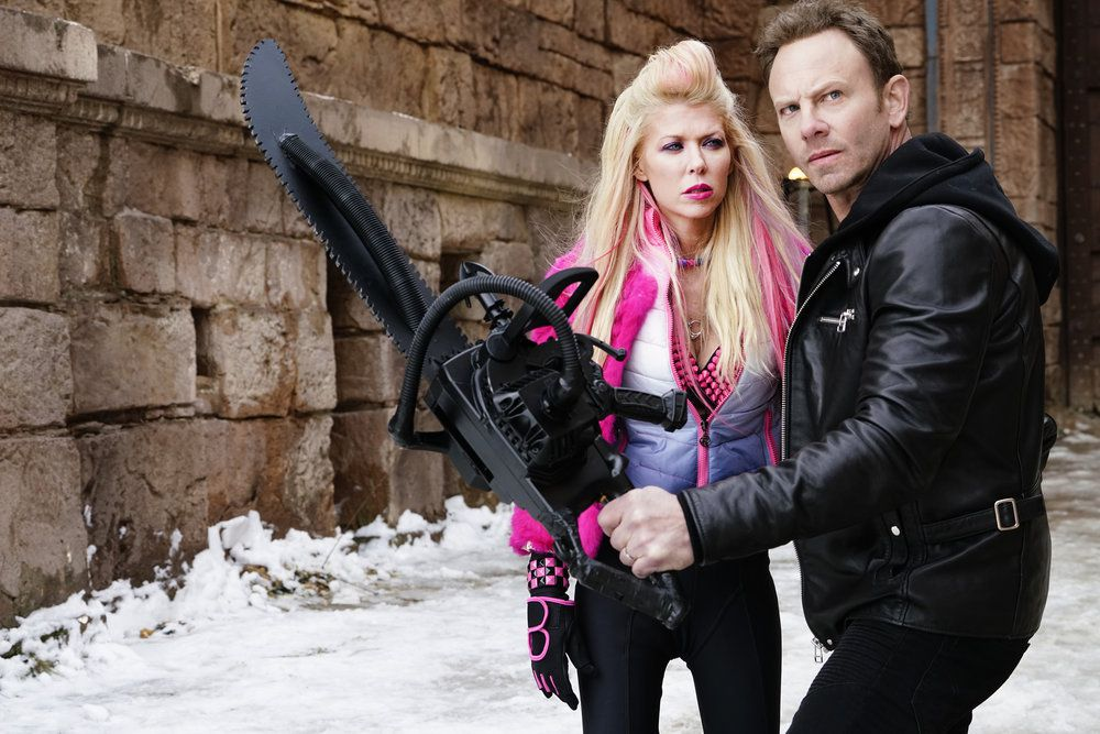 """Syfy is getting us all worked up for """"Sharknado 5: Global Swarming"""" -- starring Tara Reid and Ian Ziering -- with a week's worth of shark-themed movies."""