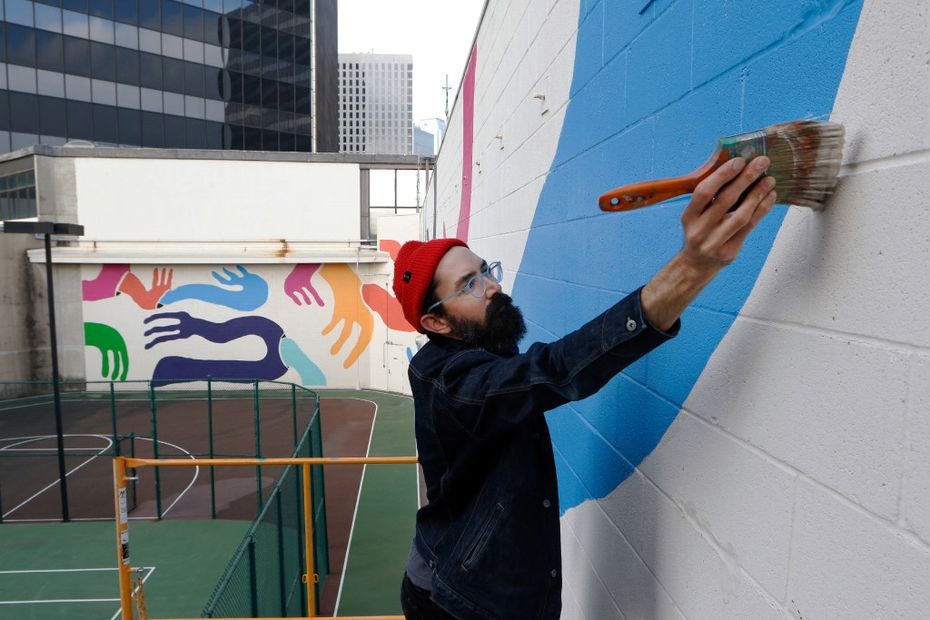 "Muralist Kyle Steed says when inspiration is lacking, he simply starts work and ""inspiration just appears."""
