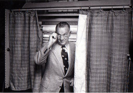 May 6, 1978: Bill Clements leaves a voting booth.