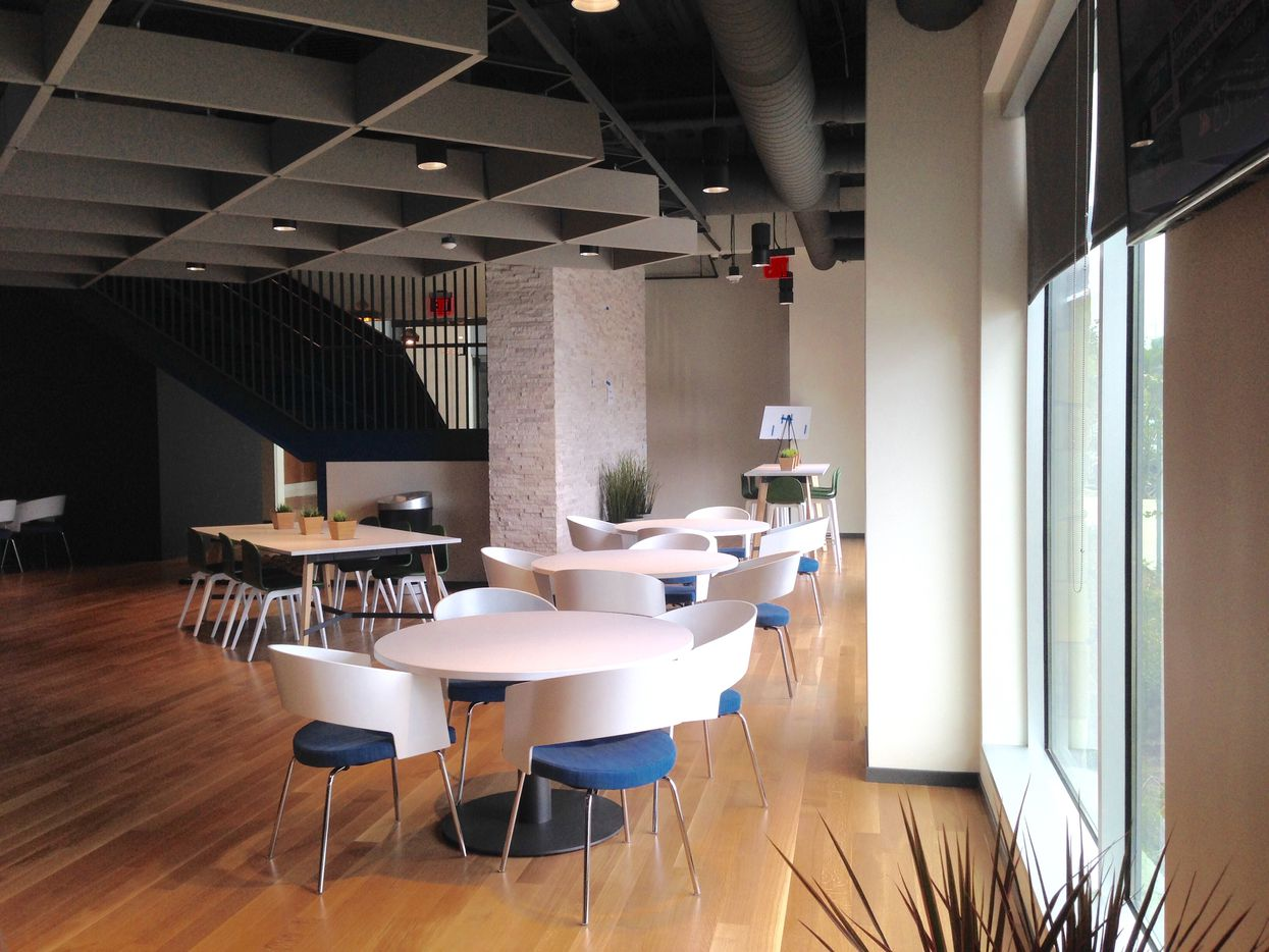 Part of the ground floor at Stream Energy's new Addison office is used for a large break area.