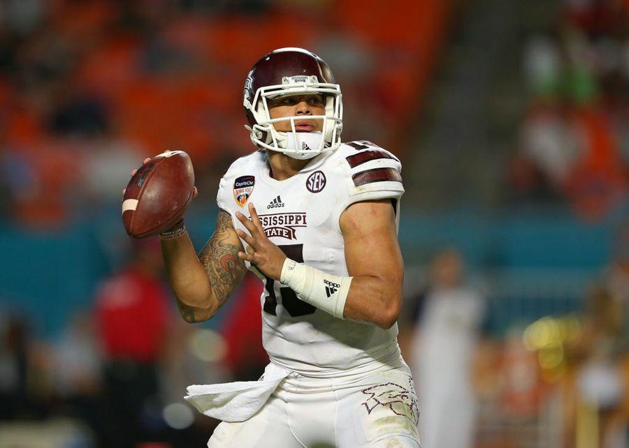 Dak Prescott fue escogido en la cuarta ronda del draft por los Cowboys. / Foto GETTY IMAGES