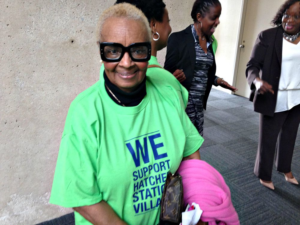 Willie Mae Coleman at Dallas City Hall on Monday.