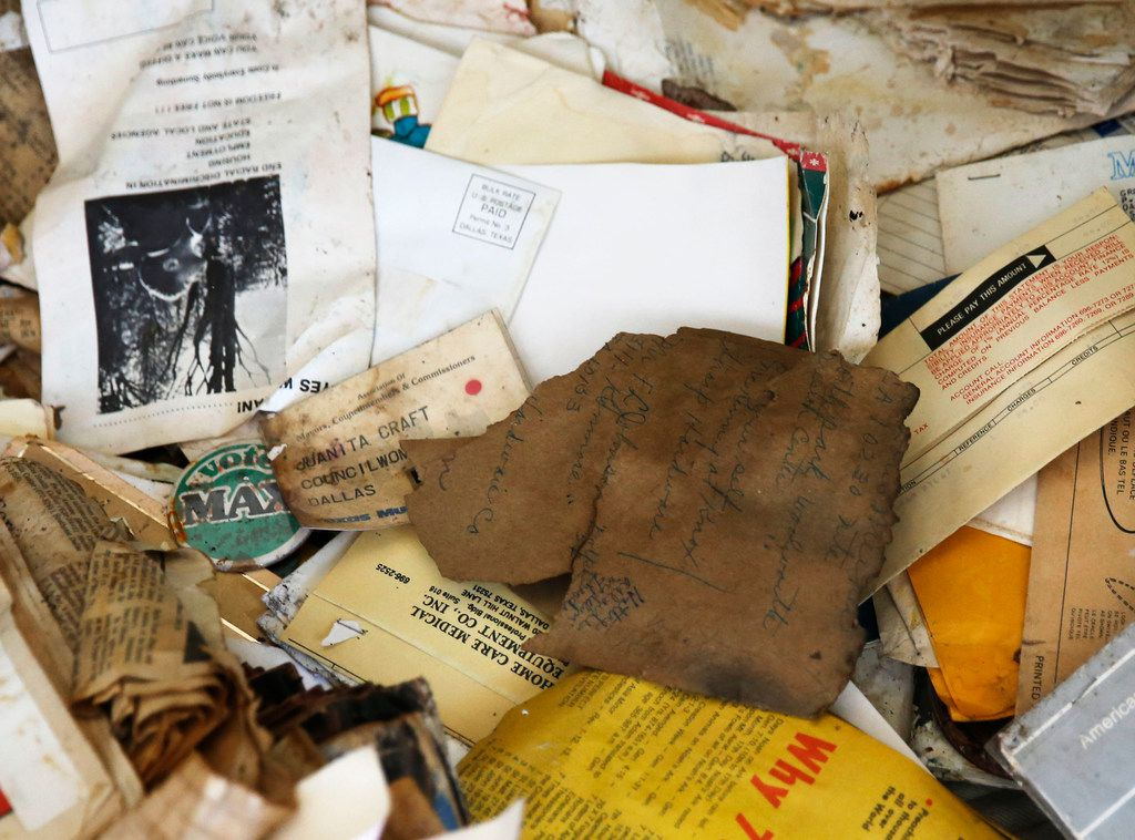 Some of Juanita Craft's papers were damaged in the flood that occurred over the weekend.