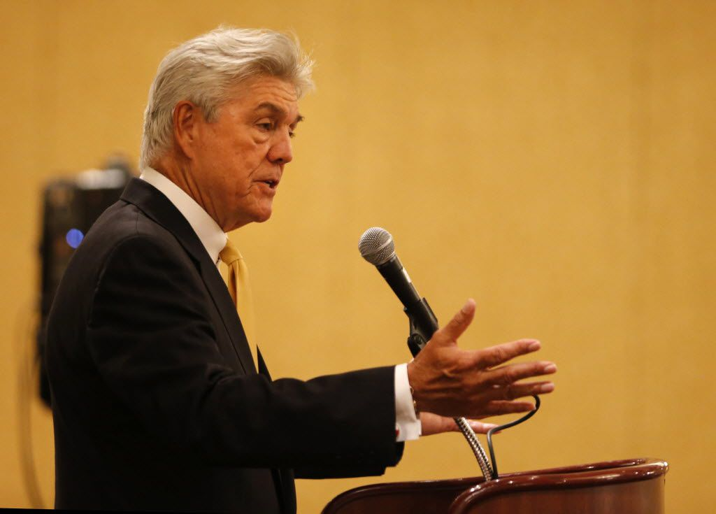 Rep. Roger Williams, R-Austin, said he's doing his part to stand up for capitalism.  (Vernon Bryant/Staff Photographer)