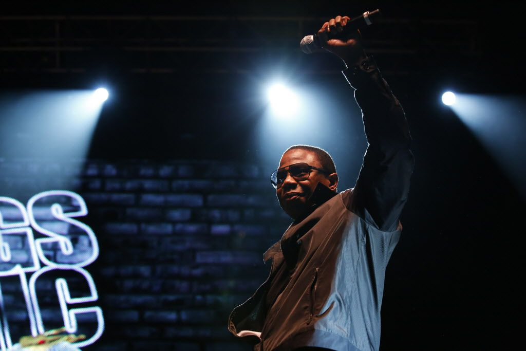 Doug E Fresh performs during the Kings Of The Mic concert at Gexa Energy Pavilion in Dallas Friday, June 26, 2015.