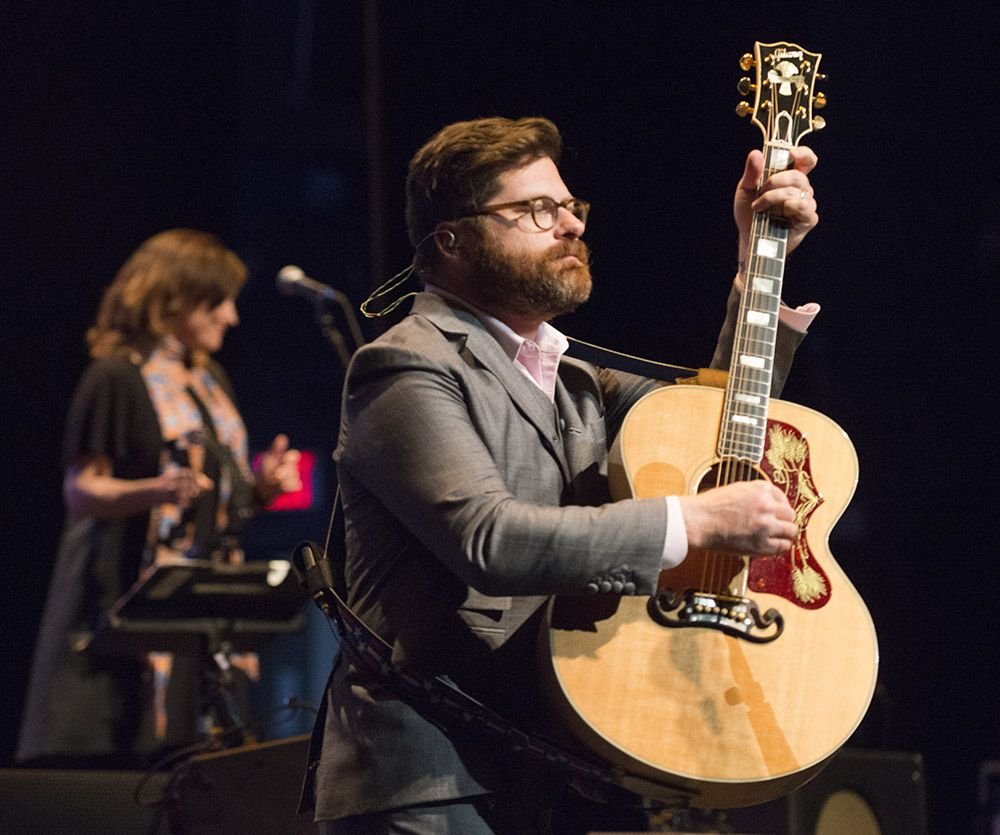 Colin Meloy, lead vocalist for The Decemberists performs at the Majestic Theater.