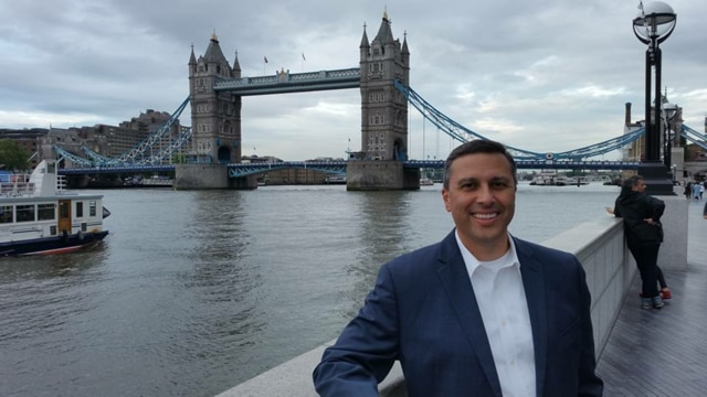 Robert Navar in London, England, in September 2016. (Photo submitted by BROOKE NAVAR)