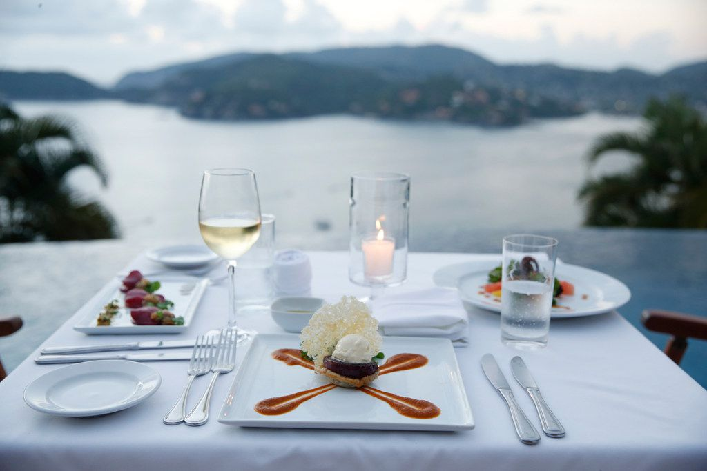 The food is top-notch at the Amuleto hotel in Zihuatanejo, Mexico. And so are the views.
