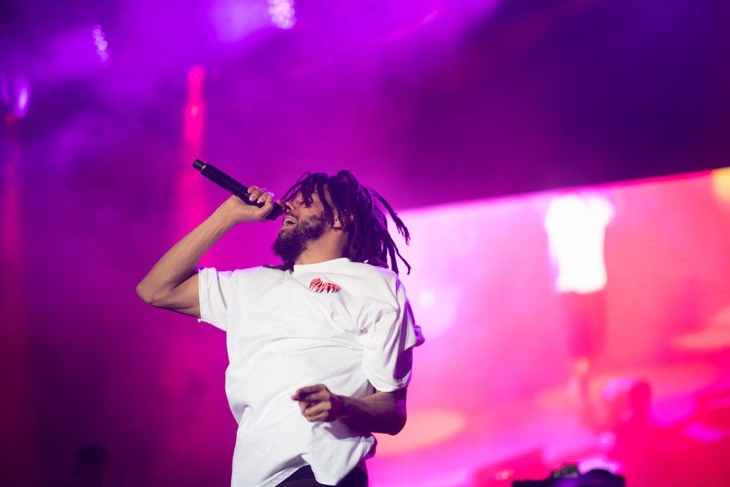 Hip hop artist J. Cole performed at hip-hop music festival JMBLYA on May 4, 2018 in Dallas.