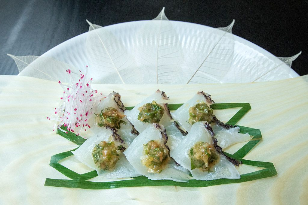 Executive sushi chef Jimmy Duke offers Japanese snapper on the menu at Imoto.