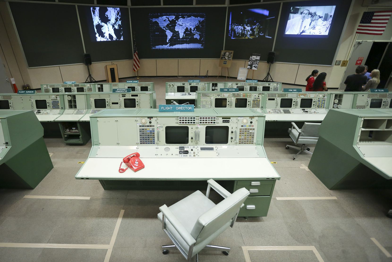 The former Mission Control is one of the most fascinating parts of any Johnson Space Center tour, because its technology dates to the '50s and '60s and looks nothing like what's used now.