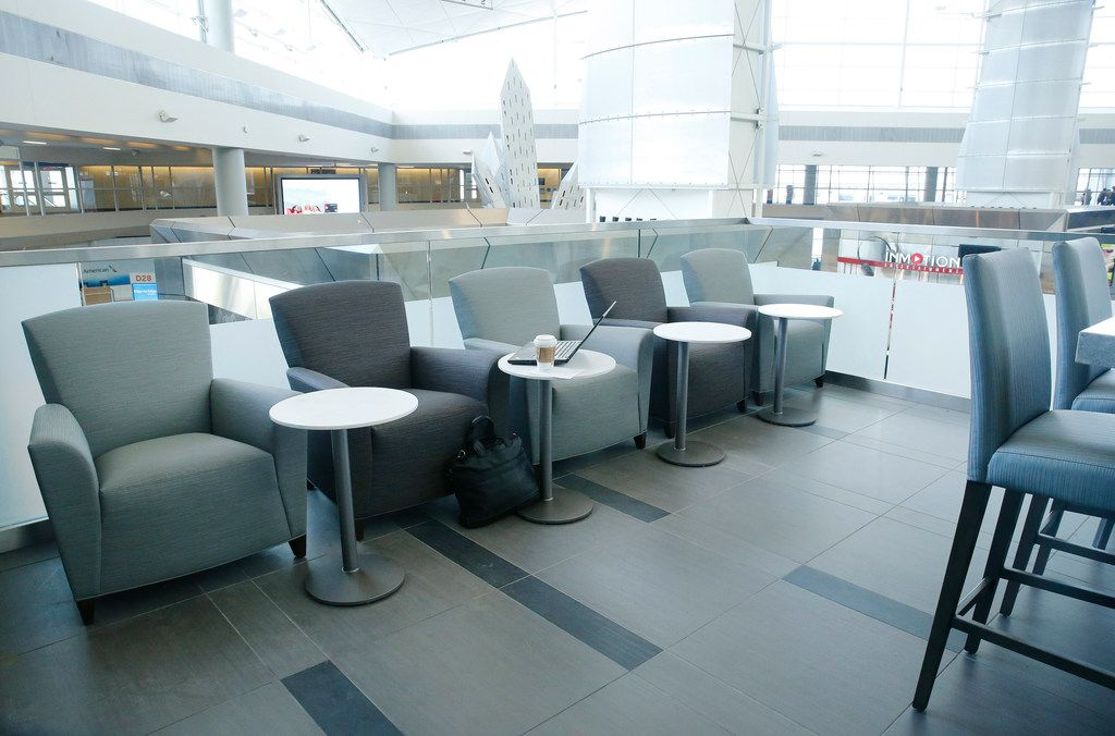 The Replenish Zone, a place to get something to eat and drink, is part of The Club DFW in Terminal D of Dallas-Fort Worth International Airport. The club, similar to those by the major airlines, can be used by anyone for a daily fee.