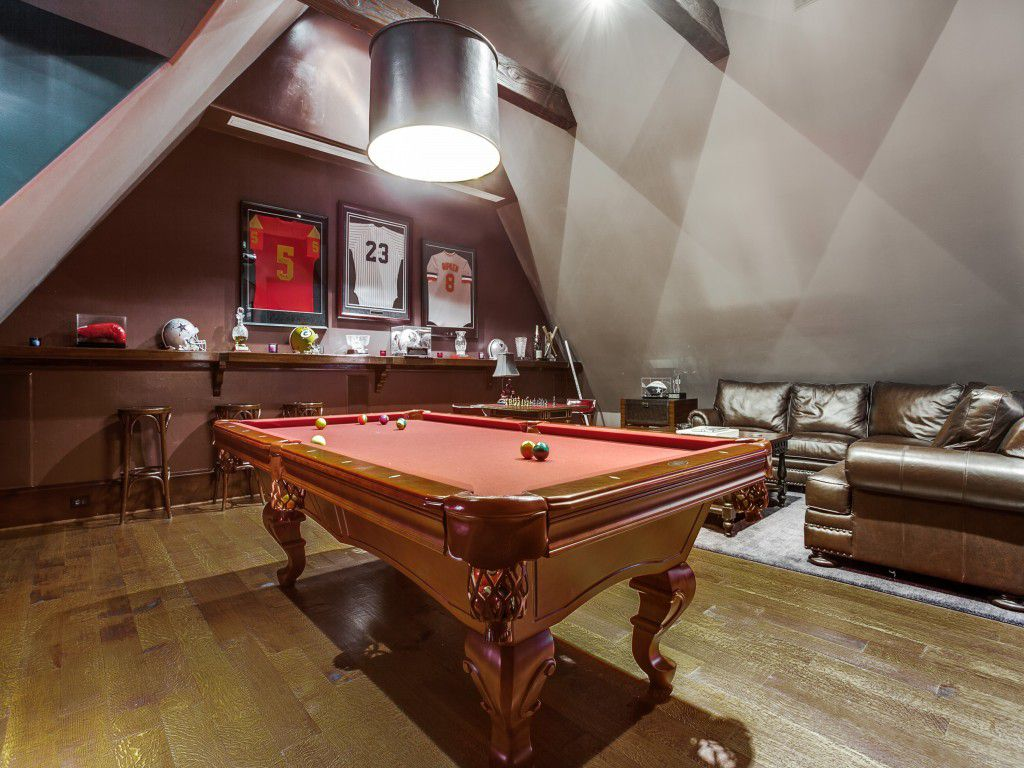 The gameroom in Michael Young's University Park home.
