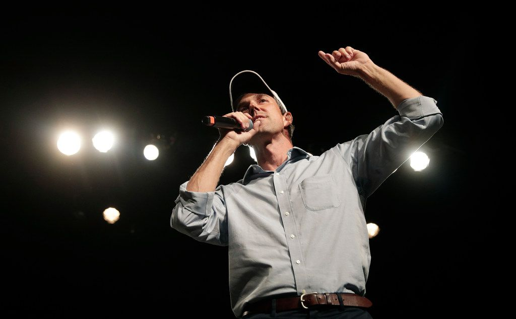 U.S. Rep. Beto O'Rourke, D-El Paso, the 2018 Democratic candidate for U.S. Senate in Texas, speaks during a campaign rally, Monday, Nov. 5, 2018, in El Paso, Texas.