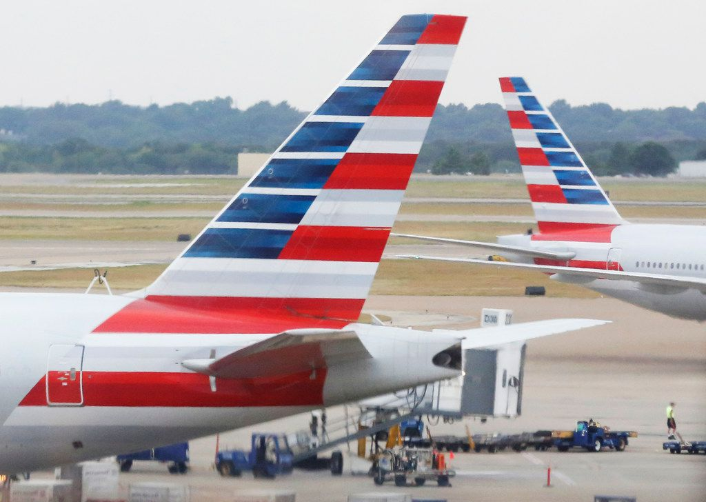 A look at American Airlines aircraft at DFW Airport, photographed on Friday, July 27, 2018. (Louis DeLuca/The Dallas Morning News)
