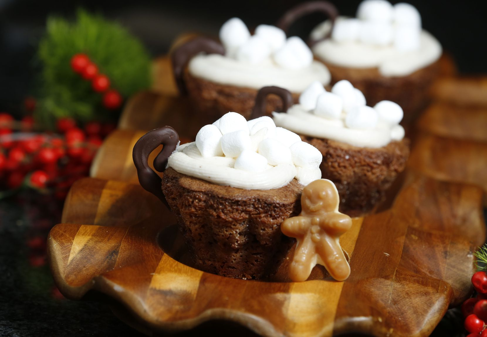 Gingerbread Hot Cocoa Cups with Spiced Marshmallow Creme by Ava Bell Reynolds won first place in the kid's choice awards during The Dallas Morning News cookie contest at Central Market in Dallas on Nov. 14, 2018.