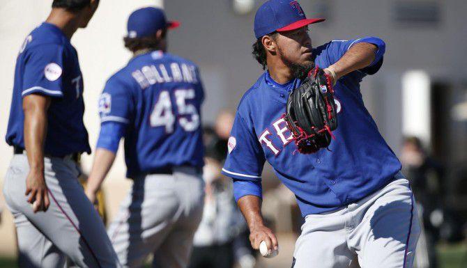 Yovani Gallardo de Texas enfrentará a Sonny Gray, derecho de los Athletics, el 6 de abril, en Oakland. (DMN/ANDY JACOBSOHN)